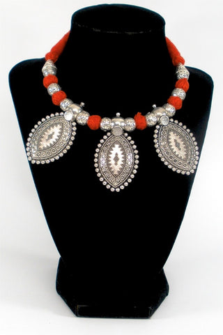 grand paan shaped necklace set