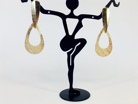 golden dangler earrings