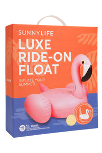 Luxe Ride-On Float | Pink Flamingo