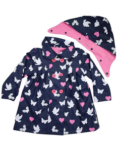 Rainwear Birds n Butterflies | Colour Changing Raincoat | Navy