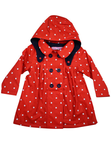 korango Rainwear Polkadot Raincoat | Red