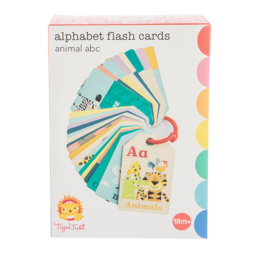 Tiger Tribe Flash Cards - Animal ABC One Country Mouse Kids