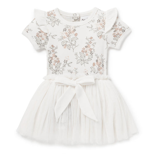 Aster & Oak Summer Floral Tutu Dress - White Alyssum One Country Mouse Kids