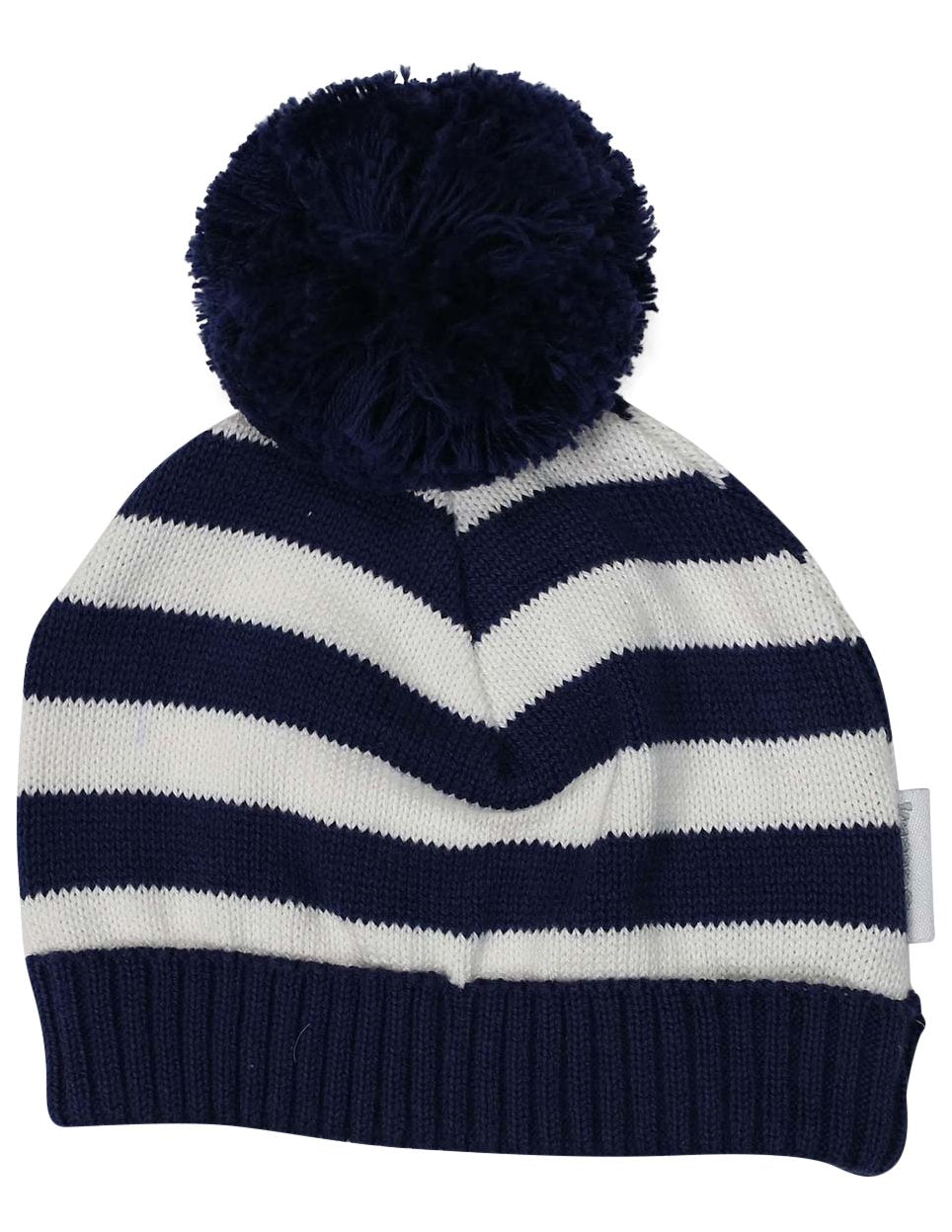 So Bunny Stripe Knit Beanie | Navy