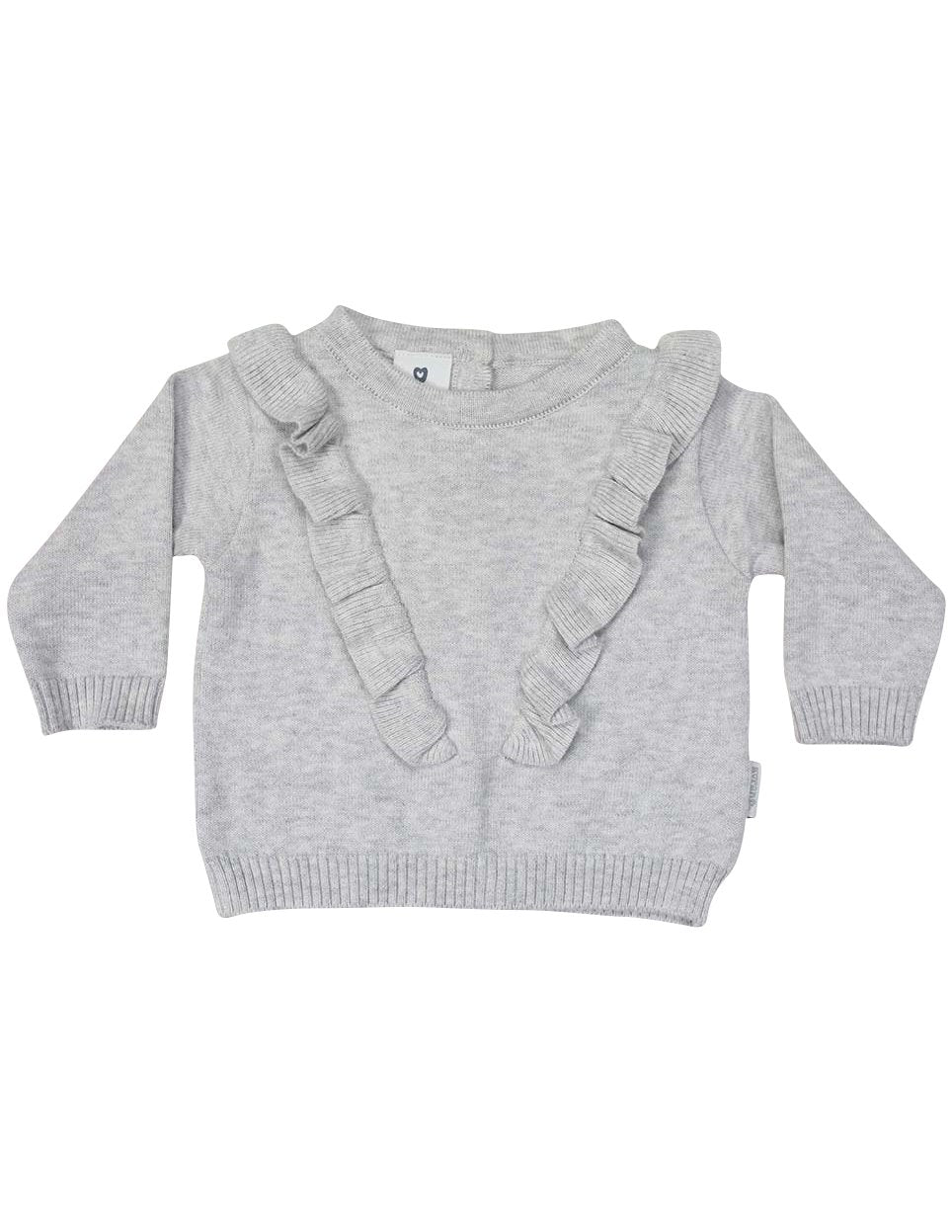 Warratah Knit Sweater with Frill | Grey