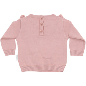 KORANGO Warratah Knit Sweater with Frill