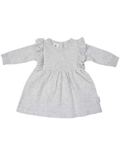 Load image into Gallery viewer, Warratah Knit Dress with Ruffle | Grey