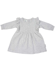Warratah Knit Dress with Ruffle | Grey