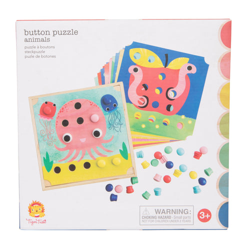 Tiger Tribe Button Puzzle - Animals One Country Mouse Kids