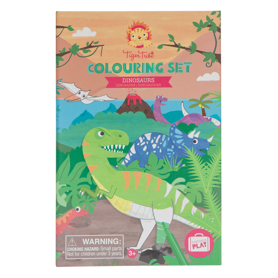 Tiger Tribe Colouring Set | Dinosaurs