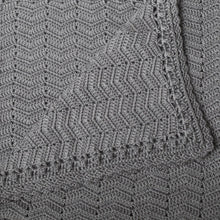 Load image into Gallery viewer, Crochet Baby Blanket | Handmade Grey | OB Designs