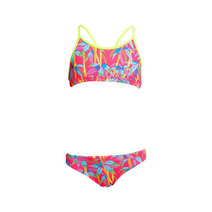 Funkita Girls Swimwear Girls Racerback Two Piece Bae Boo One country Mouse Kids