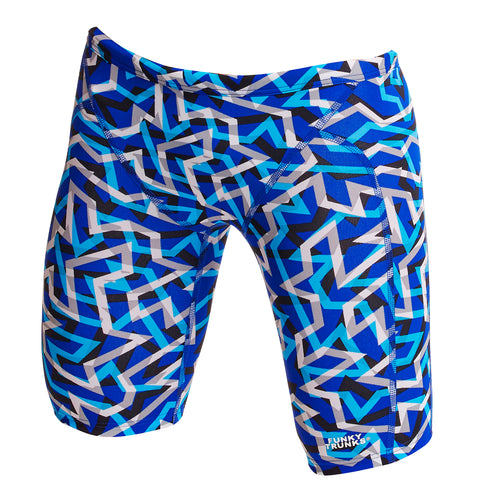 Funky Trunks Swimwear Boys Training Jammers Ticker Tape One country Mouse Kids