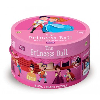 Sassi Book and Giant Puzzle - The Princess Ball, 30 pcs