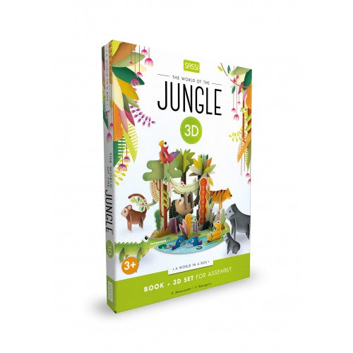 Sassi 3D Assemble, Build and Book - Jungle One Country Mouse Kids