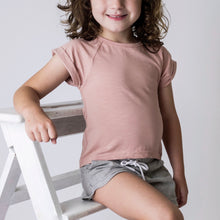 Load image into Gallery viewer, Love Henry Girls Split Back Tee - Dusty Pink