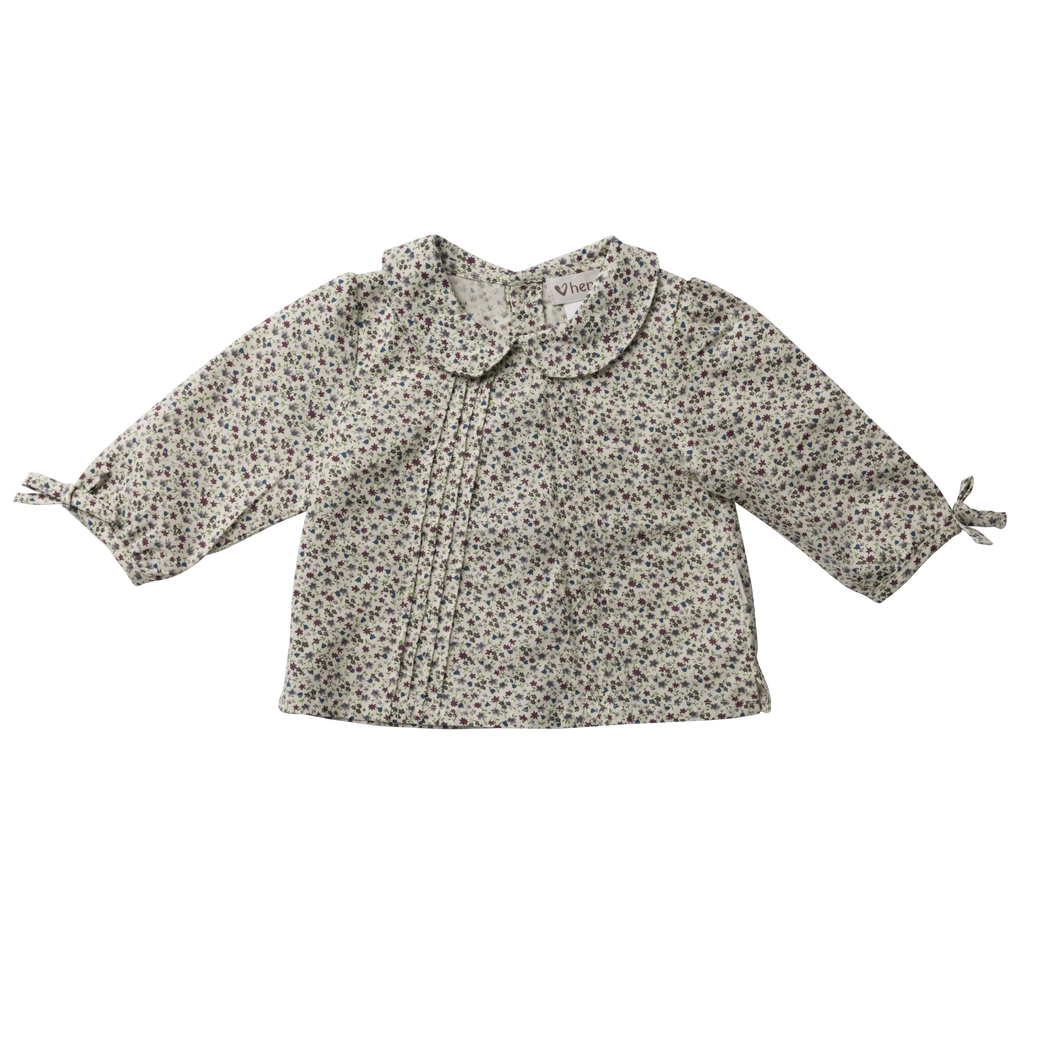 Baby Girls Shirt Top - Mulberry Floral