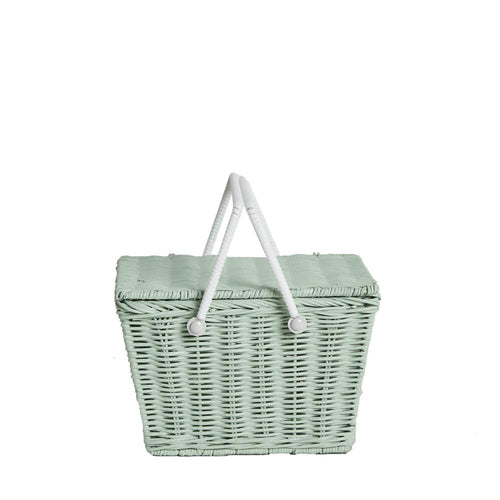 OLLIELLA Piki Basket | Mint One Country Mouse Kids