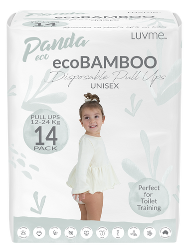 Panda Eco Pullups by Luvme | 12-24kgs | Mini 14 Pack One Country Mouse Kids