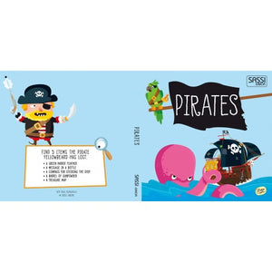 Sassi Book and Giant Puzzle - Pirates, 30 pcs