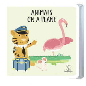 Travel Giant Puzzle and Book - Animals on a Plane