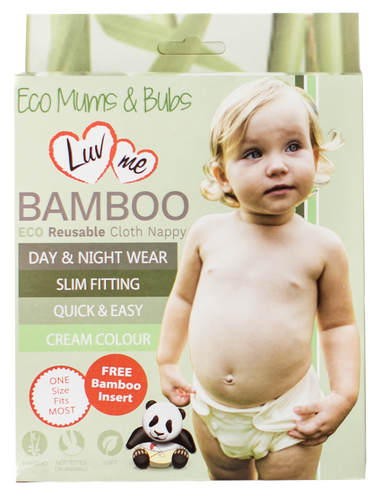 Luvme Bamboo cloth nappy w/ bamboo insert One country Mouse kids