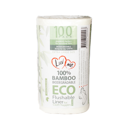Luvme eco Bamboo Flushable Liners 100 PACK One Country Mouse Kids