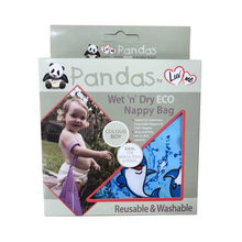 Load image into Gallery viewer, Pandas by Luvme ECO Reusable Wet Dry Bags One Country Mouse kids