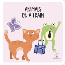 Load image into Gallery viewer, Sassi Travel Giant Puzzle and Book - Animals on a Train