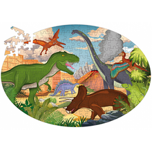 Load image into Gallery viewer, Sassi Travel, Learn and Explore - Puzzle and Book Set - Dinosaurs