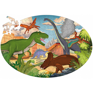 Sassi Travel, Learn and Explore - Puzzle and Book Set - Dinosaurs