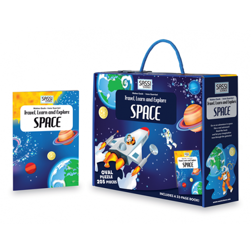 Sassi Travel, Learn and Explore - Puzzle and Book Set - Space