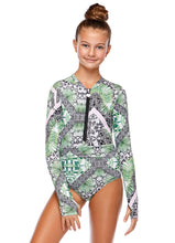Load image into Gallery viewer, Girl's Emma Long Sleeve One Piece | Floripa