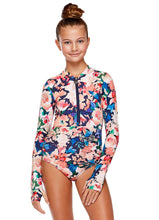 Load image into Gallery viewer, Girl's Emma Long Sleeve One Piece | Jardim