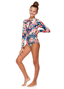 Girl's Emma Long Sleeve One Piece | Jardim