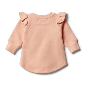 Wilson and Frenchy Tropical Peach Speckle Ruffle Sweat Top - Tropical Peach Speckle Ruffle One Country mOuse Yamba
