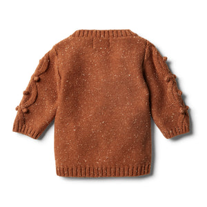 Wilson & Frenchy Toasted Pecan Knitted Jumper with Baubles