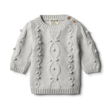 Load image into Gallery viewer,  Wilson & Frenchy Cloud Grey Knitted Jumper with Baubles