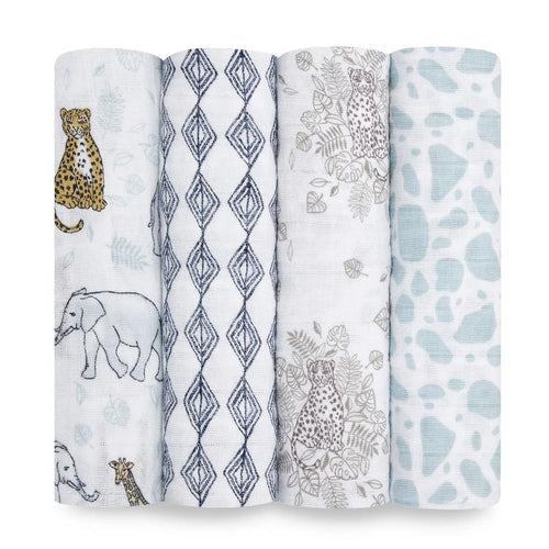 aden + anais jungle classic muslin 4-pack swaddles
