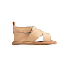 Load image into Gallery viewer, pretty Brave Cross Over Sandal Tan