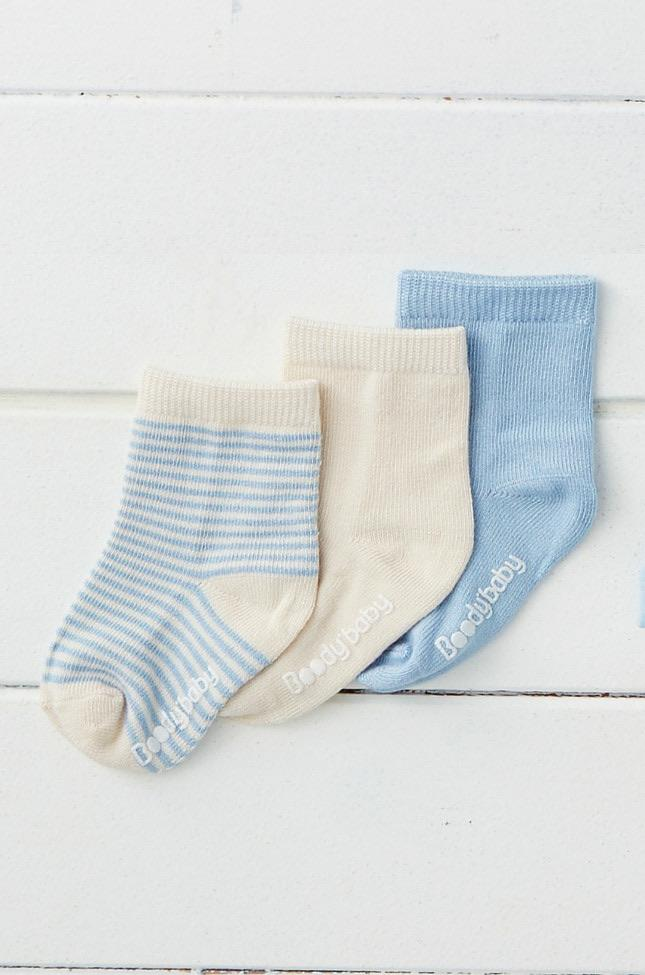 Baby Socks | Chalk Sky Stripe (3 Pack)
