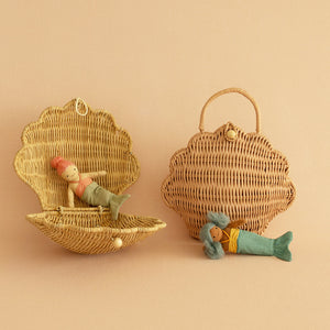 Olliella Shell Bag | Straw Olli Ella  One Country Mouse Kids