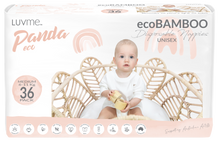 Load image into Gallery viewer, Panda Eco Nappies by Luvme | Medium (6-11kg) | Mini 36 PACK One country Mouse Kids