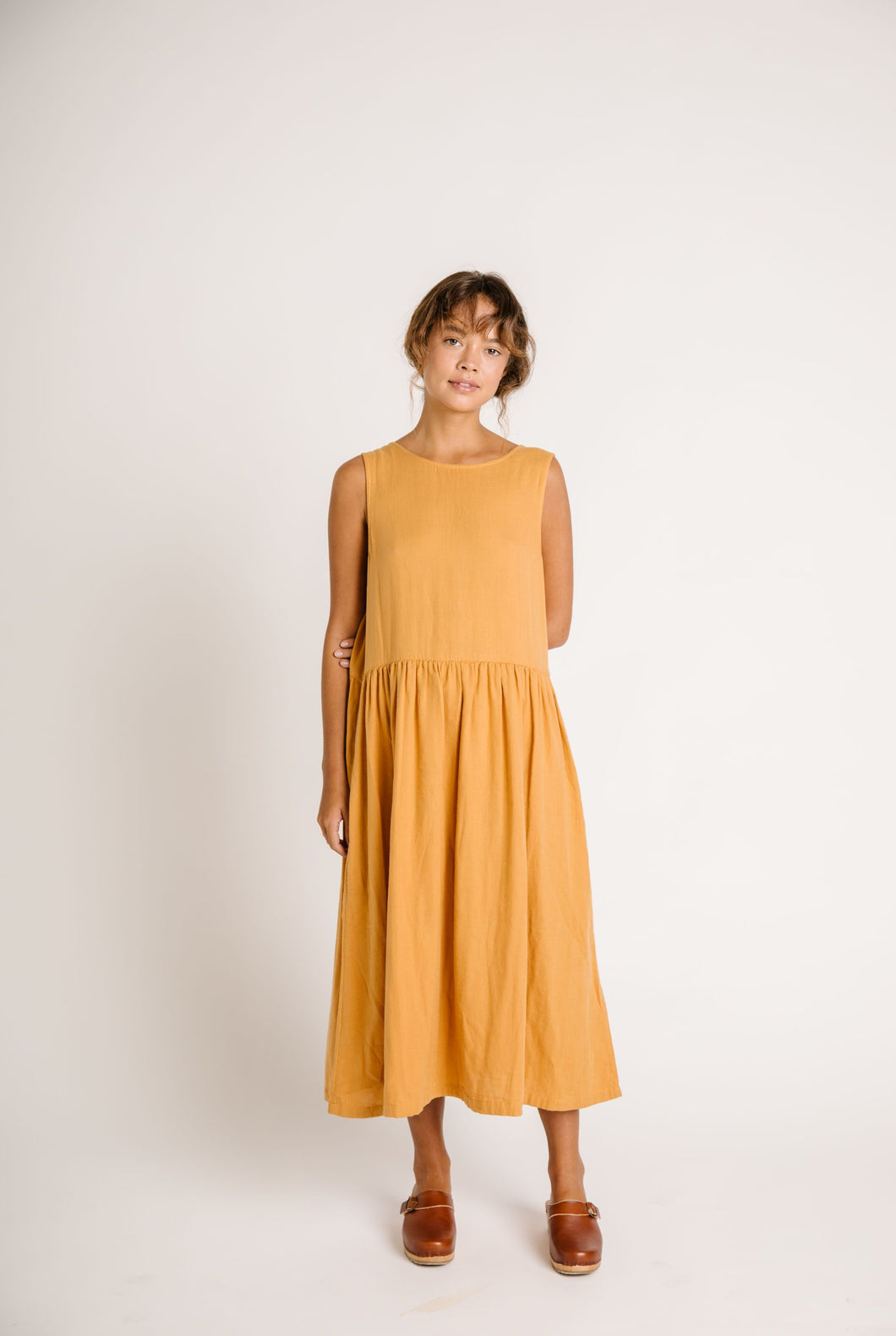 Cassia Singlet Dress | Gold