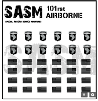 28mm US Airborne Patches