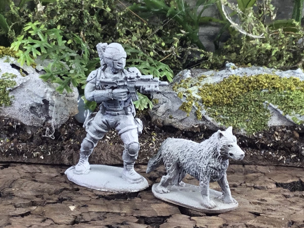 28mm Modern Wolf and Cub