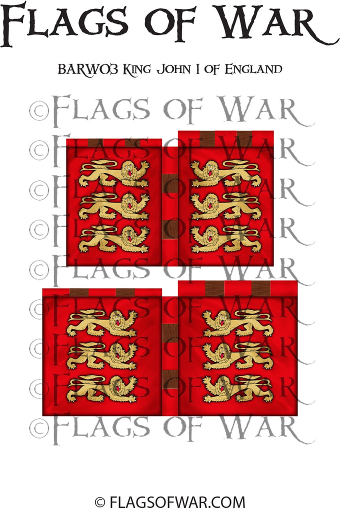 BARW04 KING JOHN I OF ENGLAND - DRAGON WAR BANNER