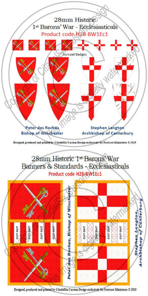 Stephen Langton & Peter des Roches, Banners + Decals
