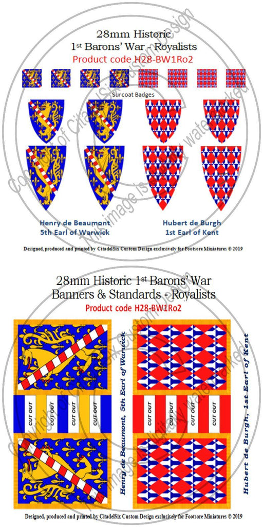 Henry de Beaumont & Hubert de Burgh, Banners + Decals