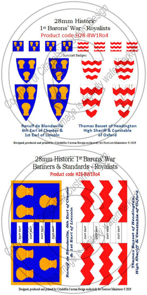 Ranulf de Blondeville & Thomas Basset of Headington, Banners & Decals